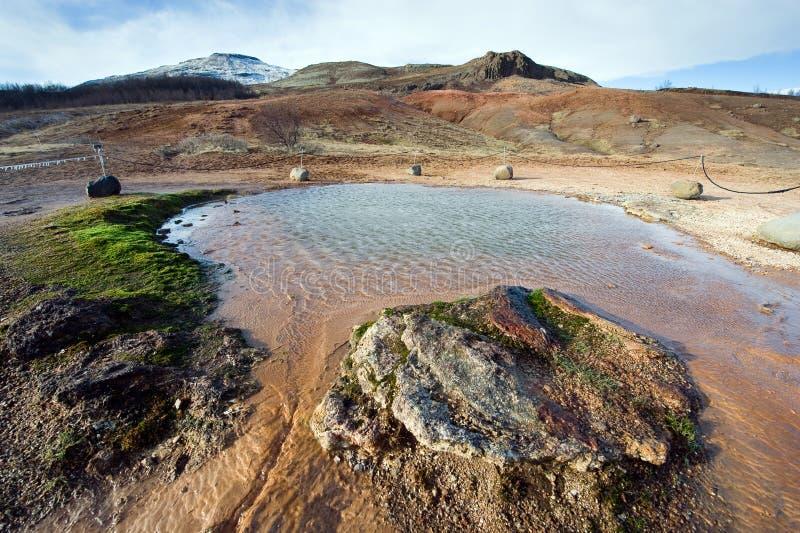 Geothermisch heet water stock afbeeldingen