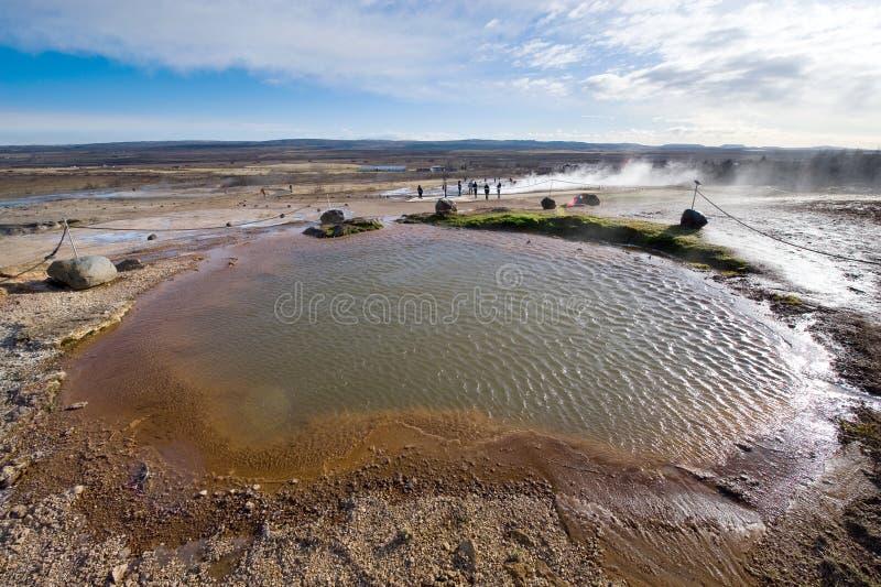 Geothermisch heet water royalty-vrije stock foto's