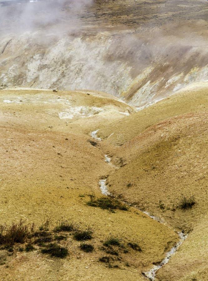 Geothermisch landschap stock afbeelding