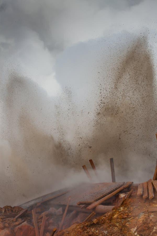 Geothermische activiteit - IJsland stock foto's