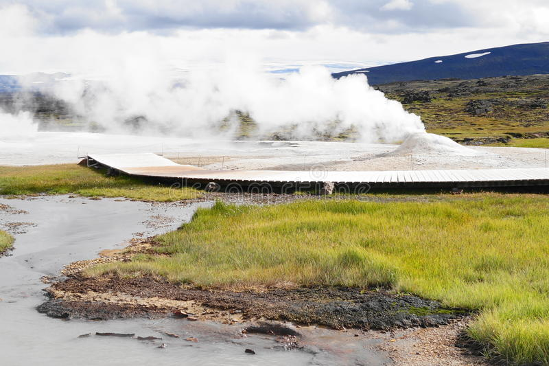 Geothermische activiteit, IJsland royalty-vrije stock foto's