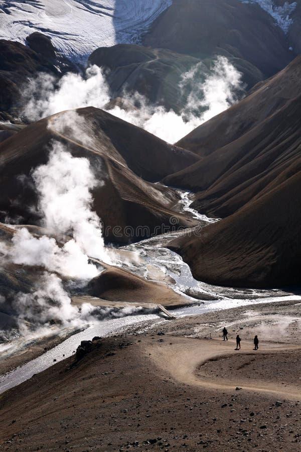 Geothermische Aktivität - Island lizenzfreie stockfotos