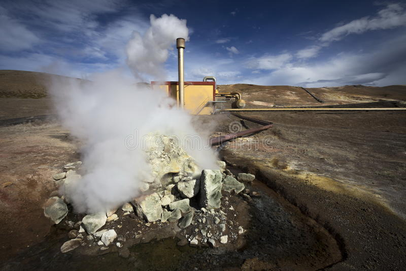 Geothermische Anlage stockfotos