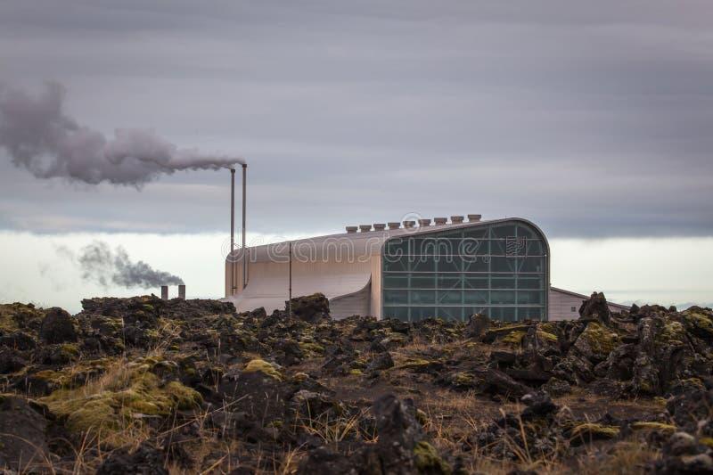 Geothermische Elektrische centrale royalty-vrije stock fotografie