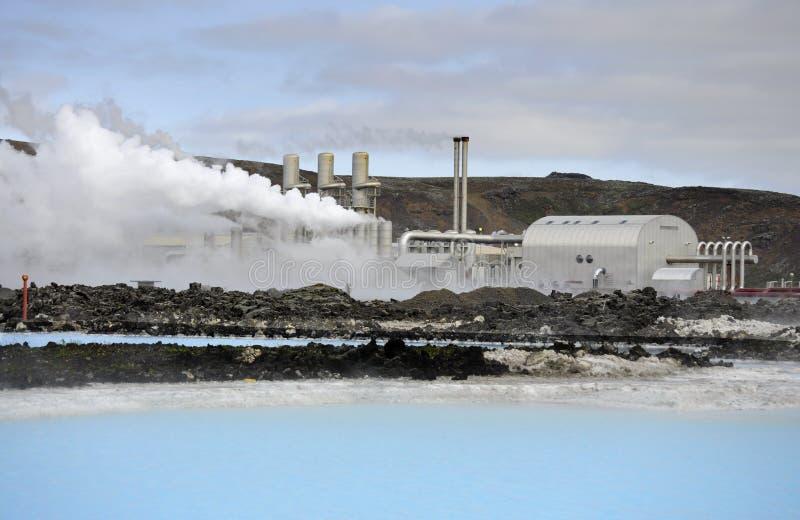 Geothermische elektrische centrale royalty-vrije stock foto