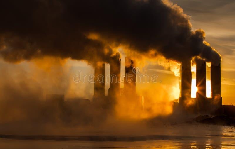 Geothermische Elektrische centrale royalty-vrije stock foto's
