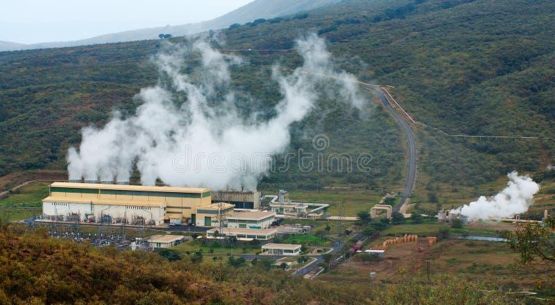 Geothermische elektrische centrale in Kenia royalty-vrije stock foto