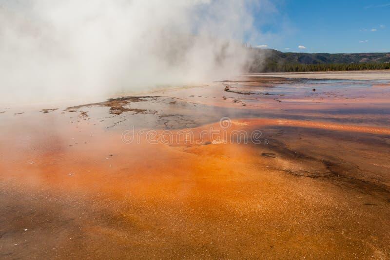 Geothermische heiße Quellen Yellowstone stockfotografie