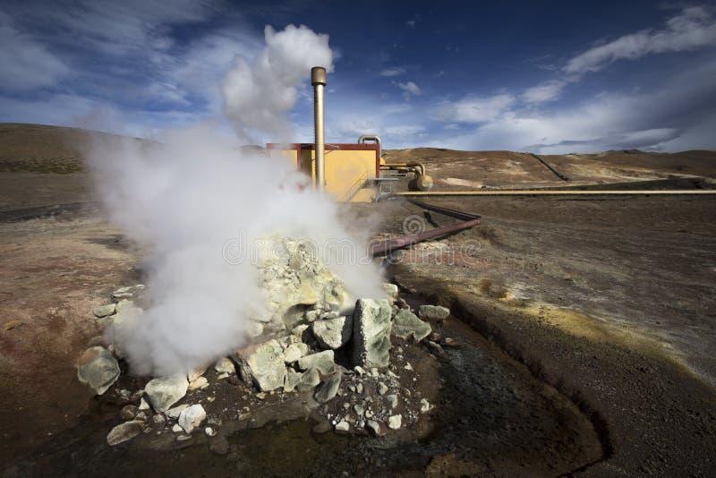 Geothermische installatie stock foto's