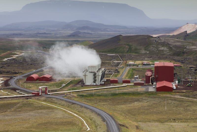 Geothermische installatie royalty-vrije stock fotografie