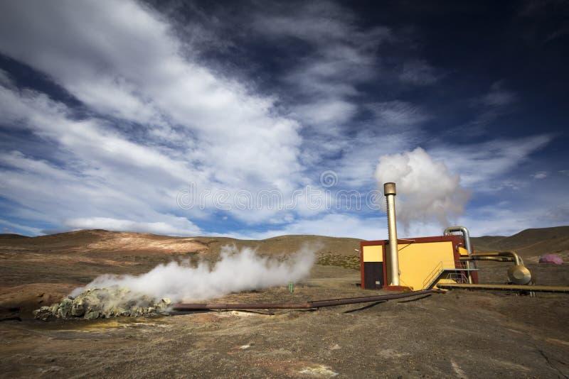 Geothermische installatie royalty-vrije stock afbeelding