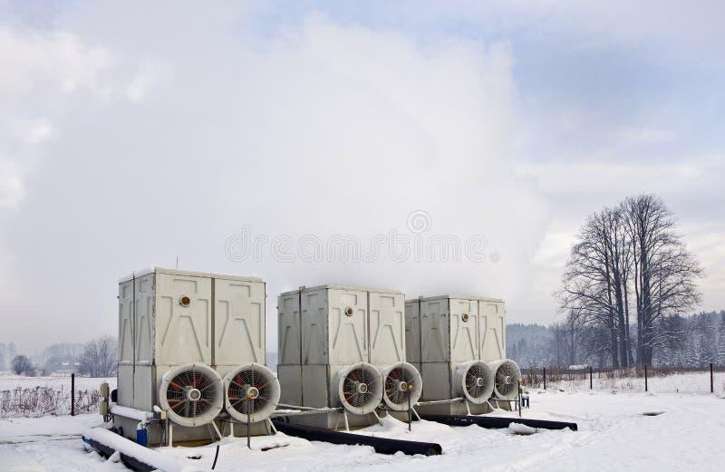 Geothermische krachtcentrale stock foto
