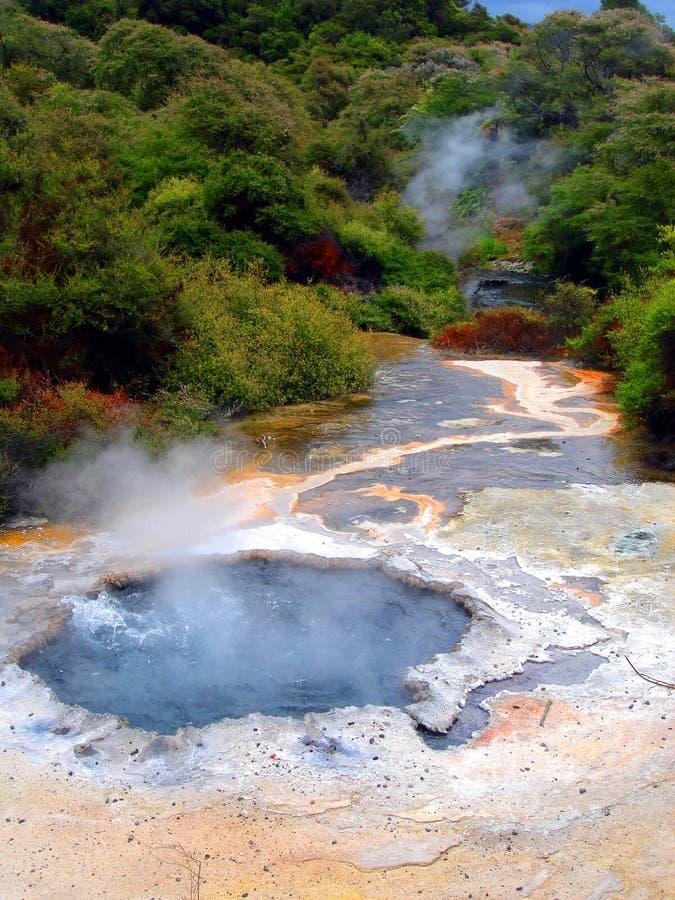 Geothermische Pool in Waimangu, Rotorua, Nieuw Zeeland stock foto