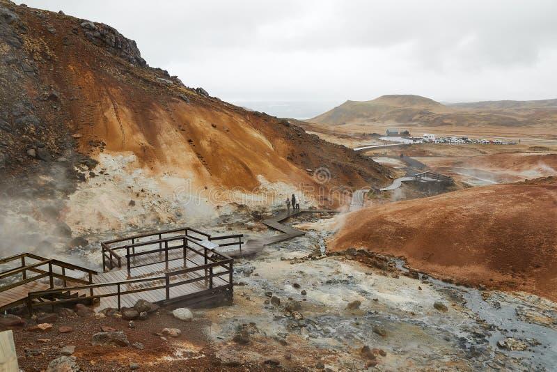 Geothermische Tätigkeit in Island stockfotografie