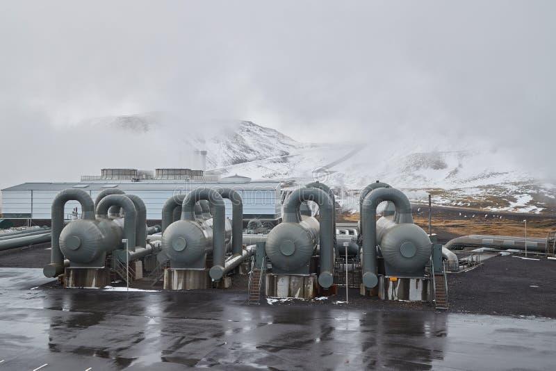 Geothermische Triebwerkanlage stockfoto