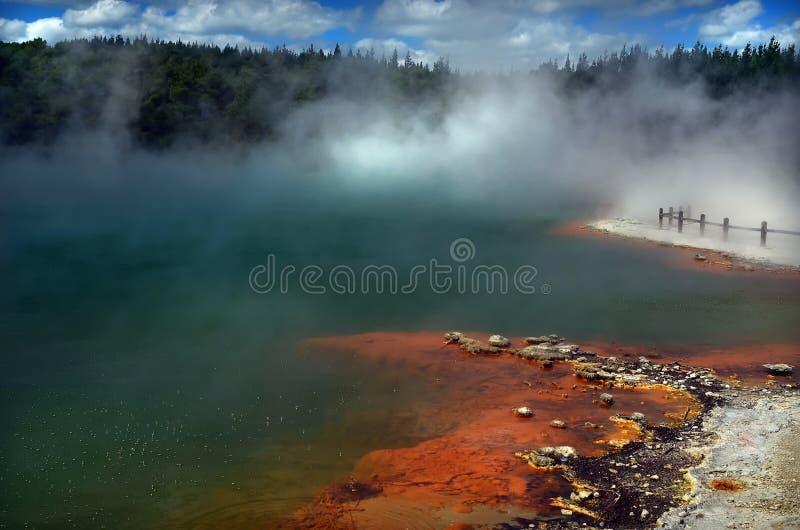 Geothermische Waiotapu, Rotorua, Nieuw Zeeland stock foto