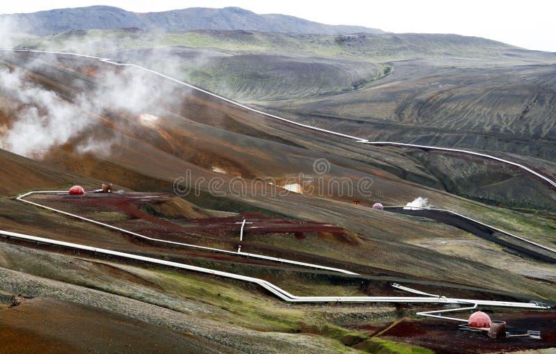 Geothermischer Bereich lizenzfreies stockbild