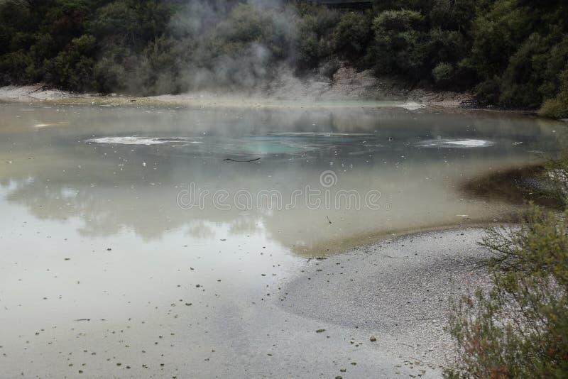 Geothermischer Bereich Wai-O-Tapu in Rotorua, Neuseeland lizenzfreies stockbild