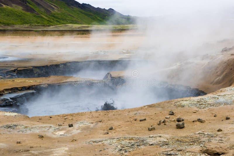 Geothermisches Feld Namaskard, Island stockbild