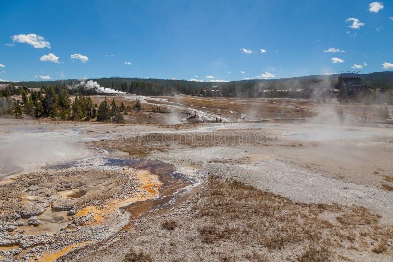 Geothermisches Geysir-Becken der heißen Quelle stockbild