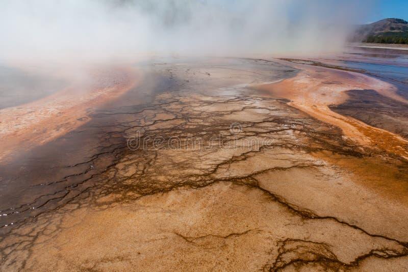 Geothermisches Pool der heißen Quelle stockfotos