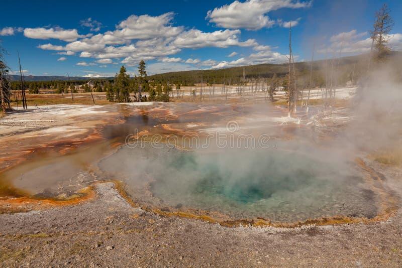 Geothermisches Yellowstone Nationalpark der heißen Quellen stockfotos