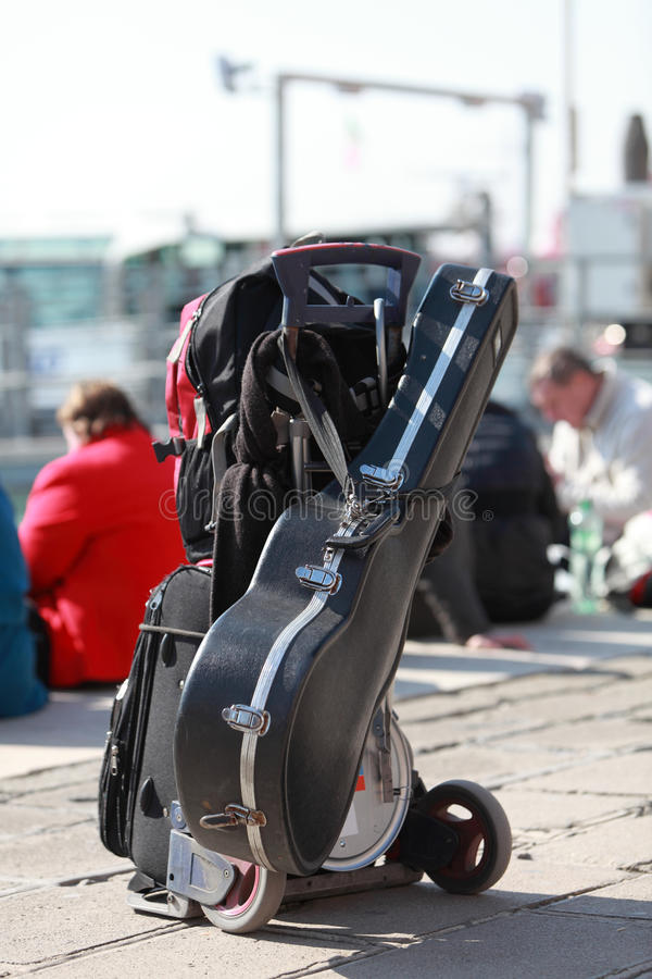 Gepäck Des Musikers Stockbilder