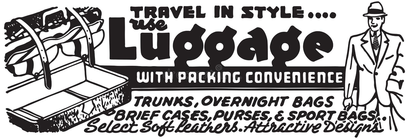 Gepäck mit verpackender Bequemlichkeit stock abbildung