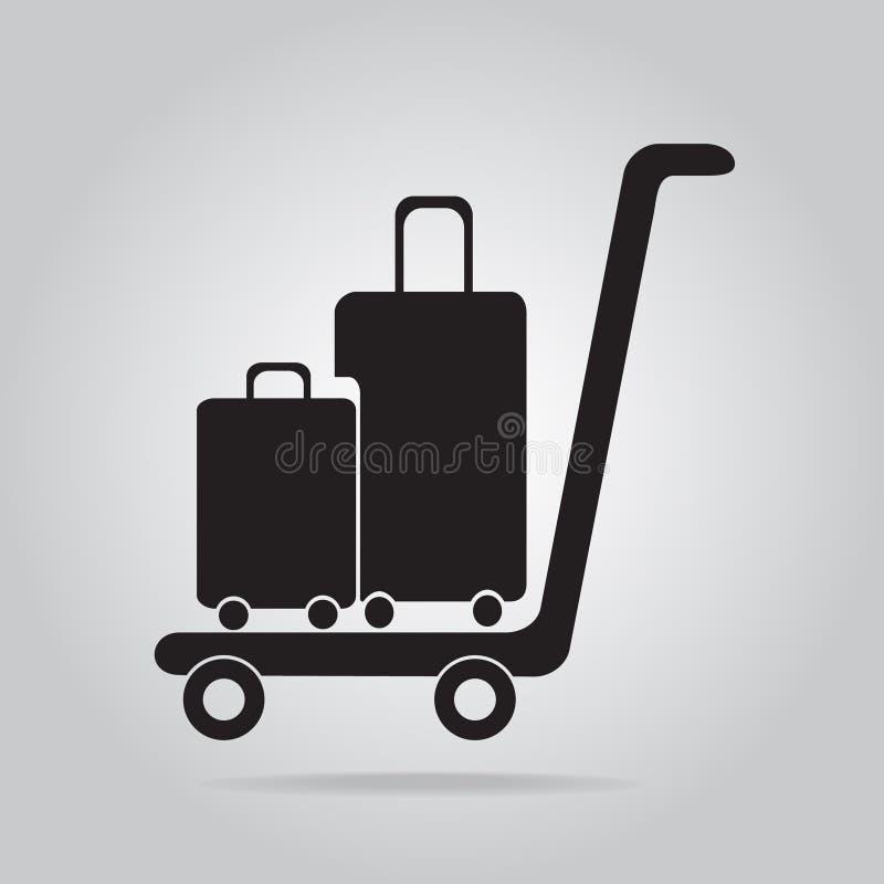 Gepäck- und Warenkorbikone, lizenzfreie abbildung