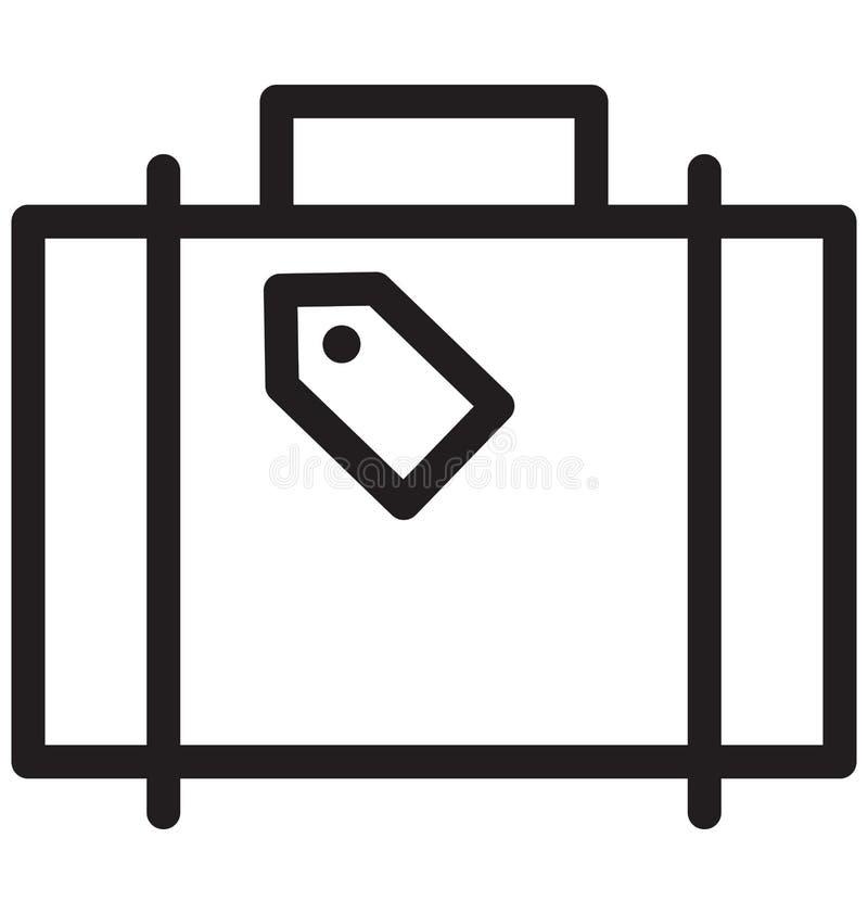 Gepäck, Vektor-Illustration der Gepäck-einzelnen Zeile vektor abbildung