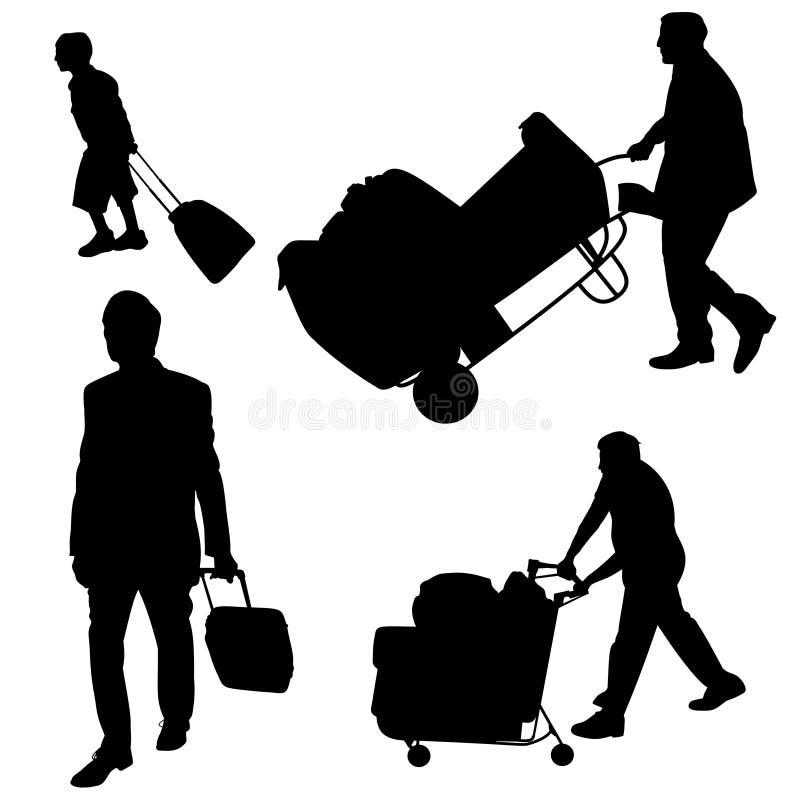 Gepäckhandhaben stock abbildung