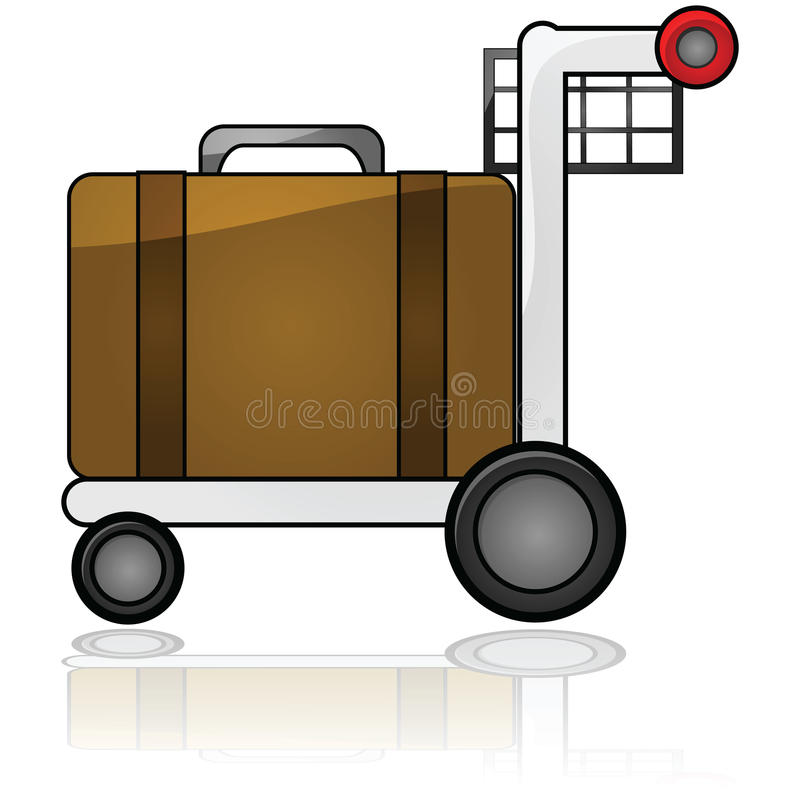 Gepäckwagen stock abbildung