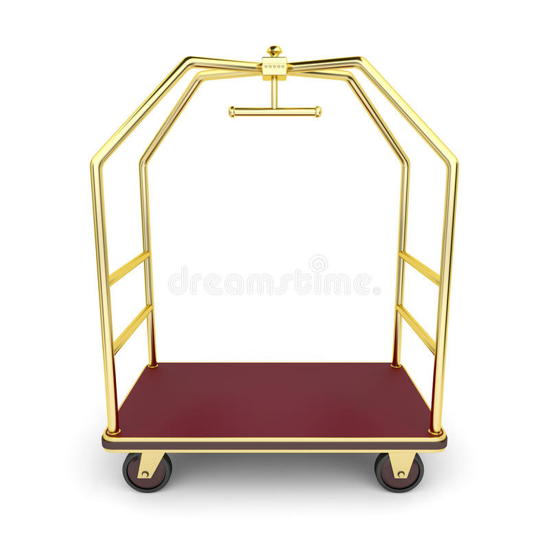 Gepäckwagen lizenzfreie abbildung