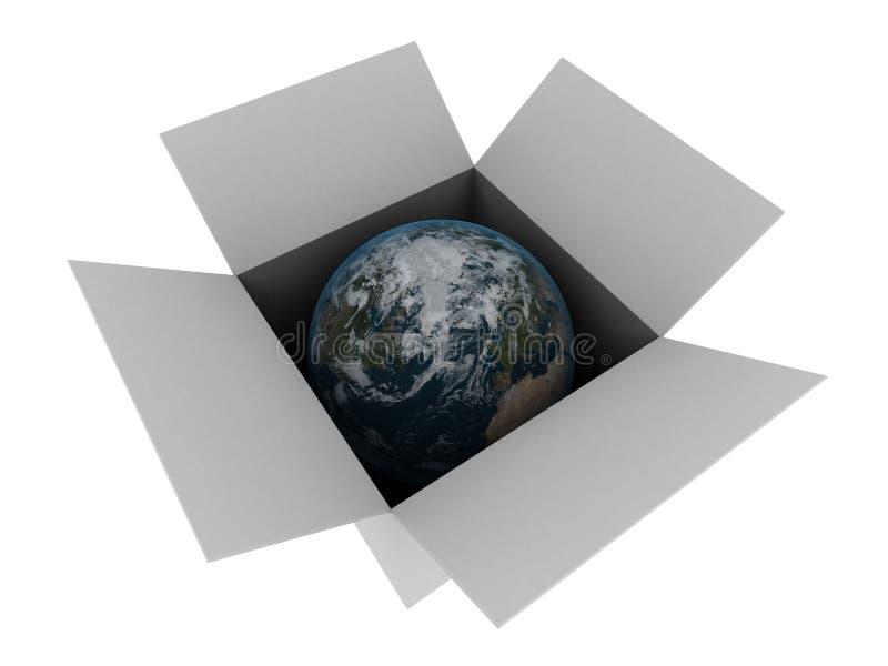 Gepackte Erde stock abbildung