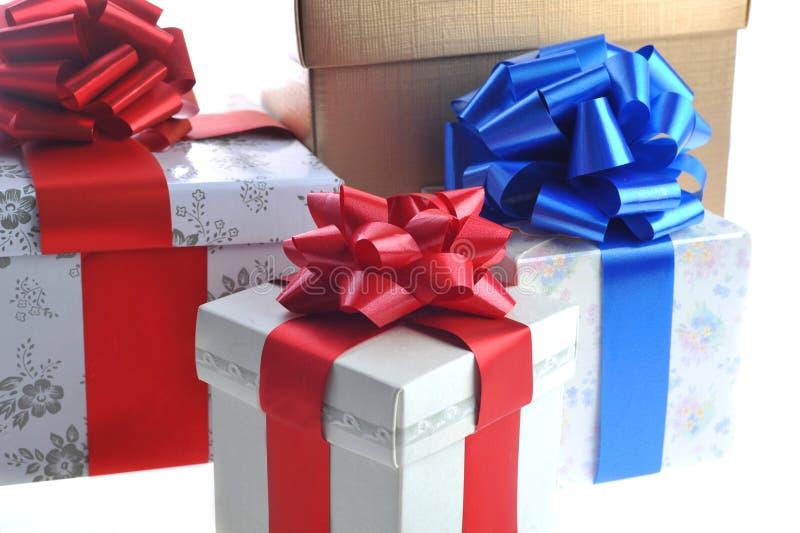 Gepackte Geschenke stockfoto