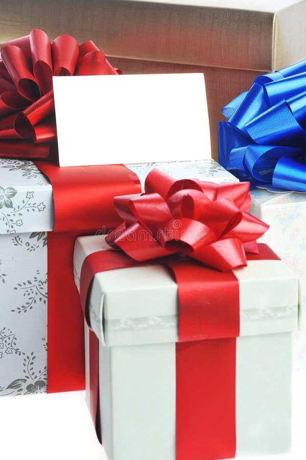 Gepackte Geschenke stockfotografie