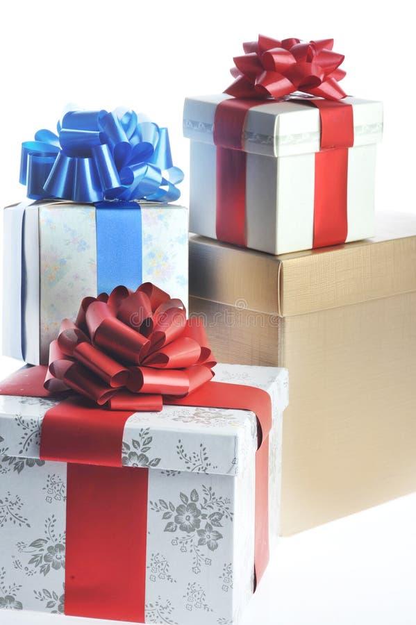 Gepackte Geschenke lizenzfreie stockfotos