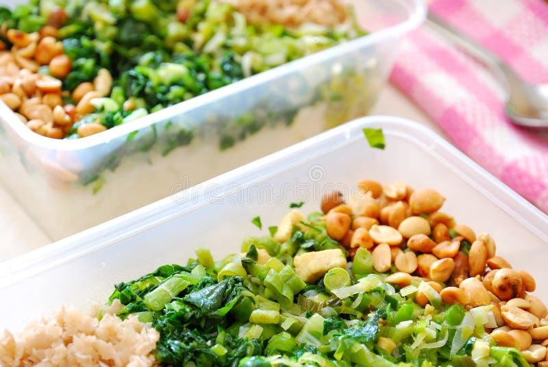 Gepackte Mahlzeitkästen Gemüse lizenzfreie stockfotografie