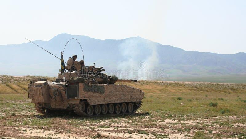 Gepanzerte Fahrzeuge in Afghanistan stockfotografie