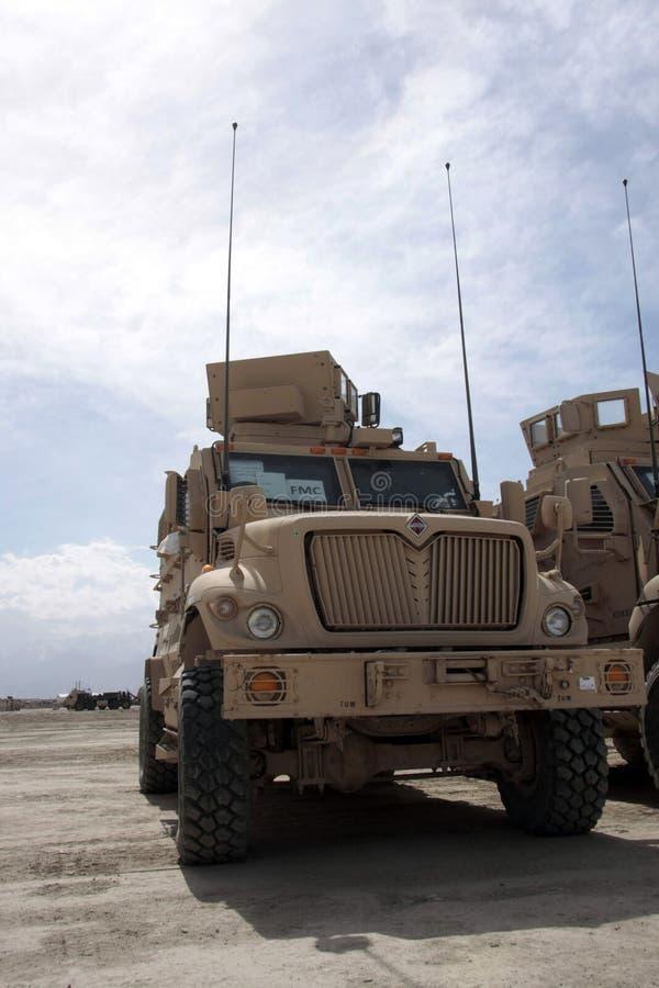 Gepanzerte Fahrzeuge betriebsbereit zur Ausgabe in Afghanistan stockfotos