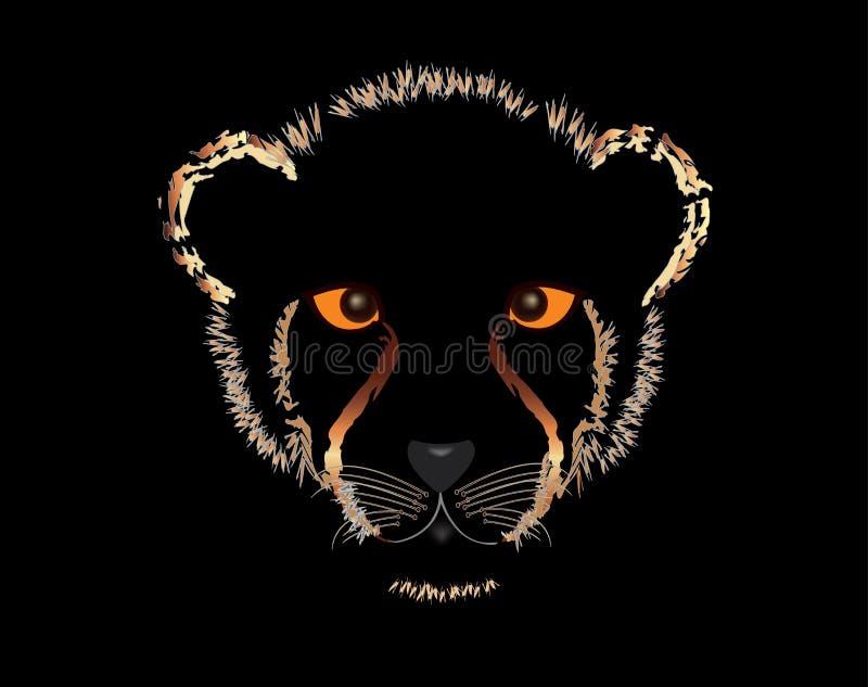 Gepardów lisiątka royalty ilustracja