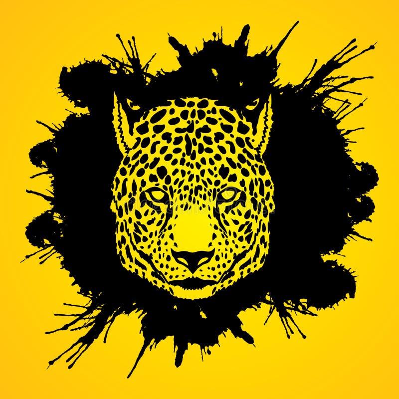 Gepard głowa royalty ilustracja