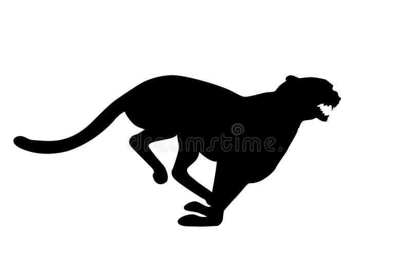 Gepard Running ilustração stock