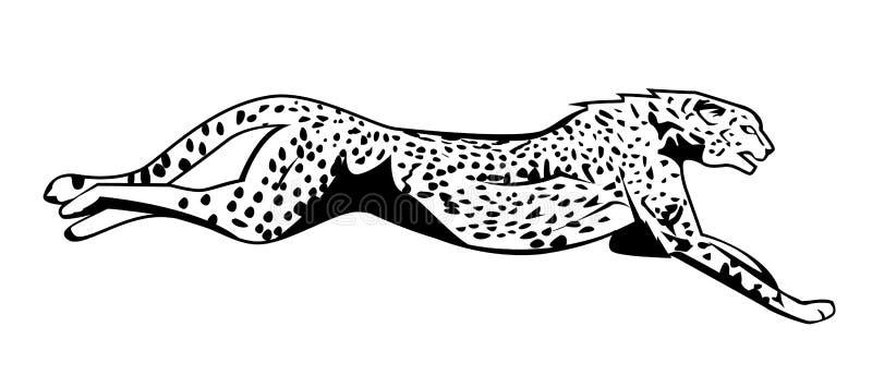 Gepard skacze ilustracja wektor