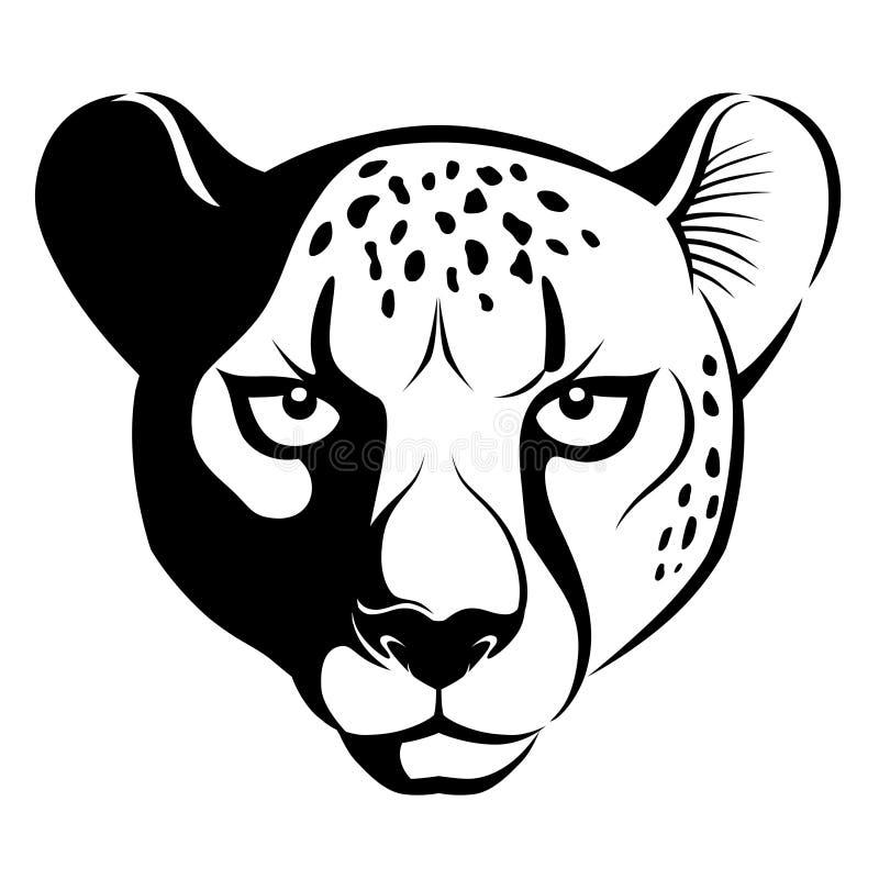 Gepard twarz royalty ilustracja