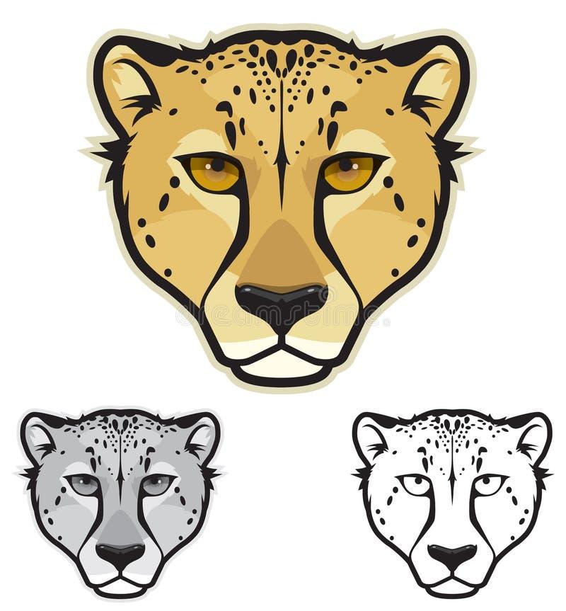 Gepard twarze ilustracja wektor