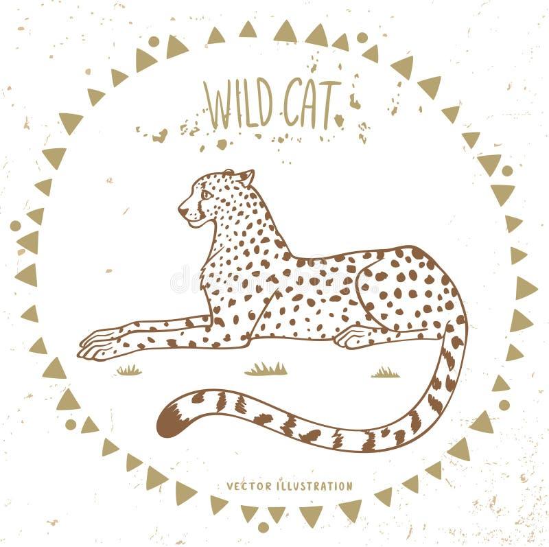 Gepard w ramie ilustracji