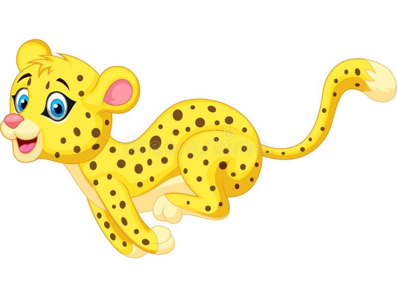 Gepardkarikaturbetrieb stock abbildung
