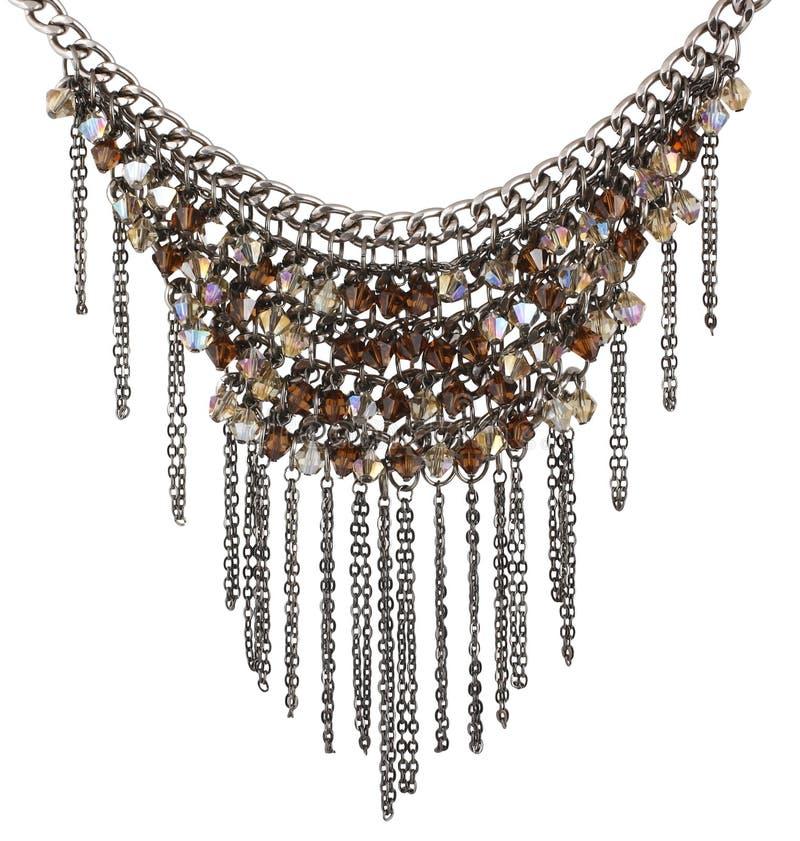 Geparelde halsband stock afbeelding