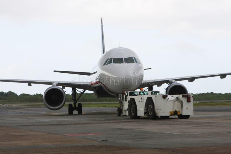 Geparkeerd vliegtuig royalty-vrije stock fotografie
